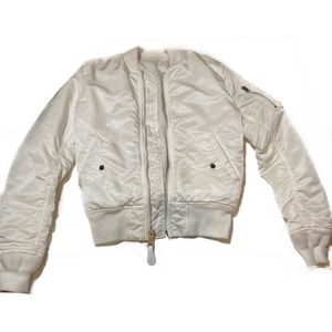 Alpha Industries White Bomber